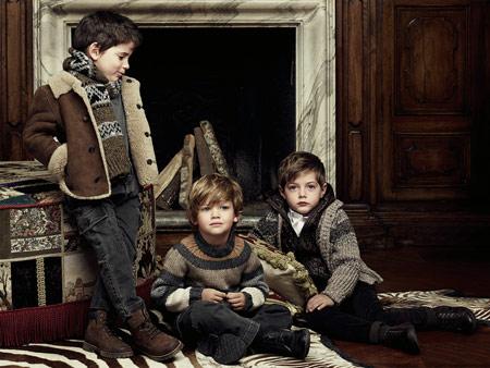 لباس بچه گانه برند Dolce & Gabbana,لباس زمستانی بچه گانه 2014