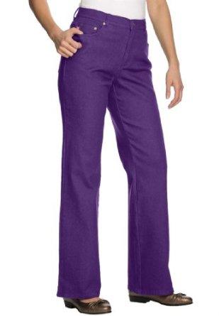مدل شلوار جین دخترانه با رنگ بنفش