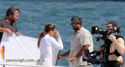 عکس های جدید جنیفر لوپز برروی یک قایق تفریحی