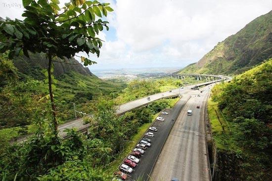 تصاویر یک آزادراه زیبا در هاوایی