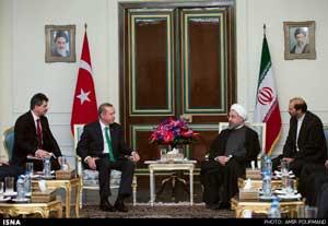 اردوغان: روحانی اول اسفندماه به ترکیه سفر میکند