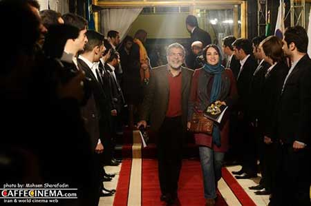 بازیگران و همسرانشان در مراسم فرش قرمز جشنواره فیلم فجر