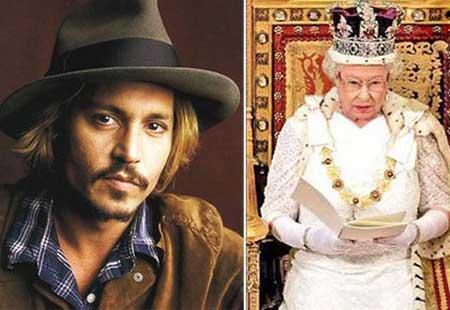اخبار ,اخبار فرهنگی ,ملکه انگلستان و جانی دپ