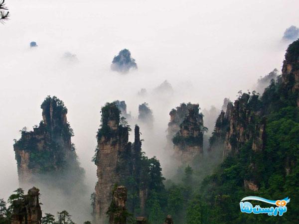 طبیعت بکر کوههای تیانزی در چین