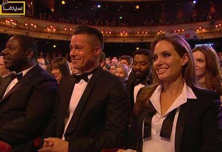 برد پیت و آنجلینا جولی در مراسم بفتا