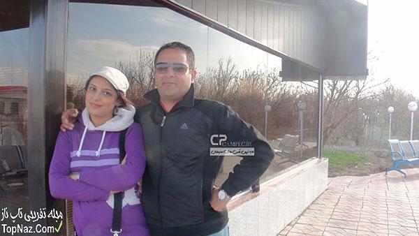 الهه حسینی و همسرش