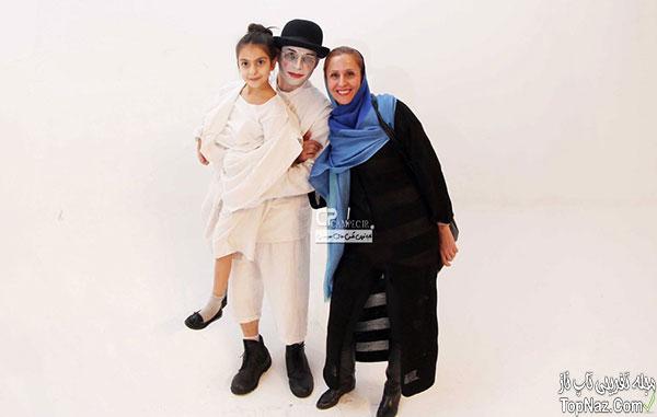 پیمان معادی و همسر و فرزندش