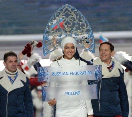نامزد زیبای کریس رونالدو در المپیک سوچی