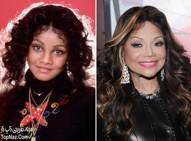 عکس لاتویا جکسون قبل و بعد از عمل زیبایی بینی
