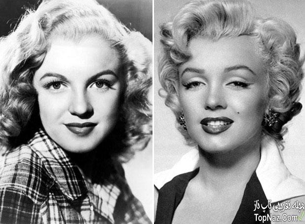 عکس مرلین مونرو قبل و بعد از عمل زیبایی بینی