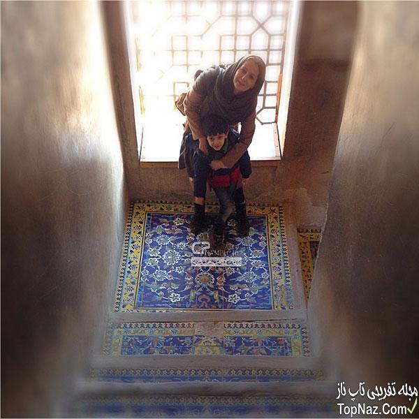 شقایق دهقان همسر و پسرش