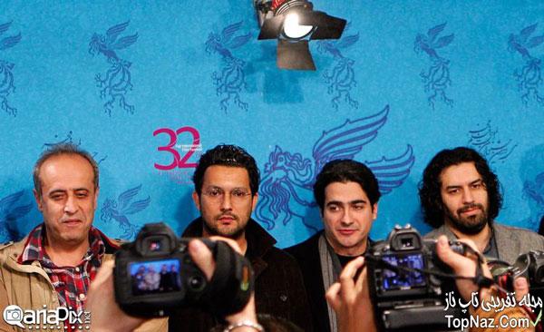 عکس بازیگران در نشست خبری فیلم آرایش غلیظ