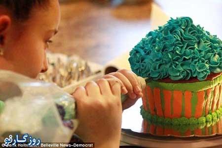 اخبار,اخبار گوناگون,شغل پردرآمد دختر 11 ساله,تزیین کیک و شیرینی