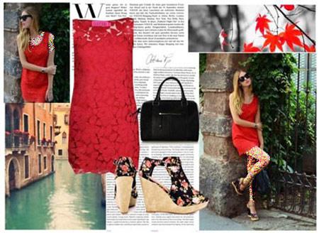 ست لباس قرمز,ست کردن لباس قرمز