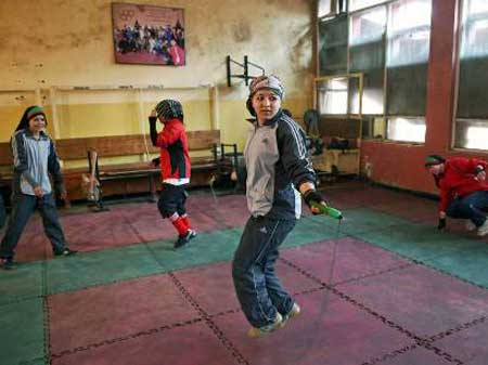 زنان بوکسور افغانستان