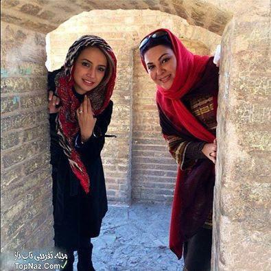 عکس شبنم قلی خانی و لاله اسکندری در سی و سه پل