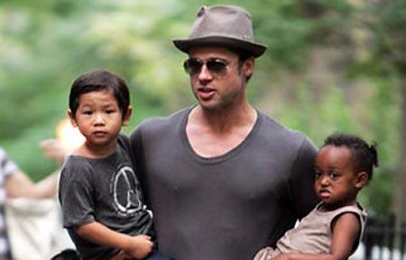 برد پيت : دوست دارم بزرگ شدن فرزندانم را ببينم