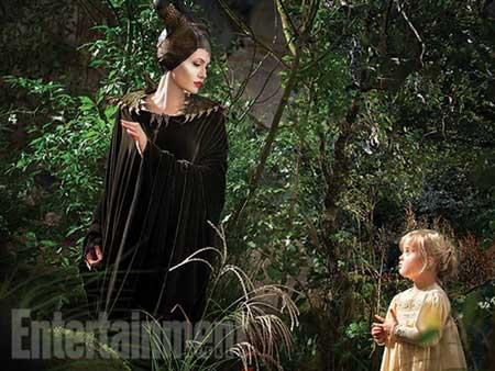 آنجلینا جولی و دخترش در فیلم شیطانصفت + عکس