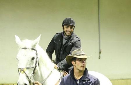 مهناز افشار ، مارال خلیلی و امید زندگانی در حال اسب سواری +تصاویر