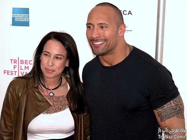 دواین جانسون و همسرش