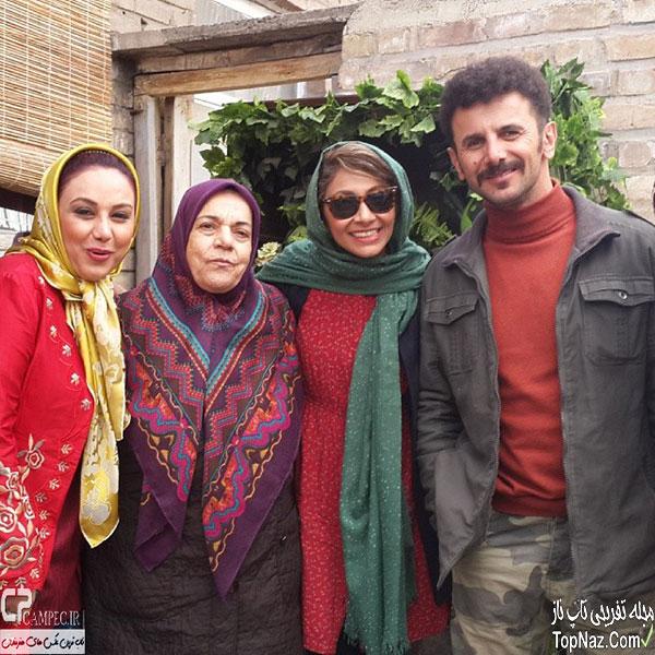 عکس امین حیایی و همسرش نیلوفر خوش خلق در پشت صحنه خوب بد زشت