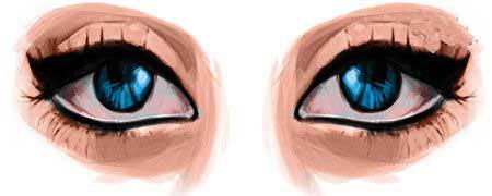 آموزش زیبایی,آرايش چشم,درشت جلوه کردن چشمها