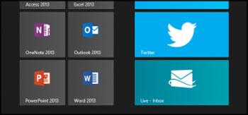 ارسال ایمیل, ترفند ویندوز 8, صفحه شروع ویندوز ۸