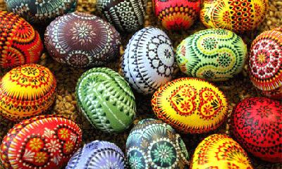 تخم مرغ رنگی هفت سین مدل شلوغ