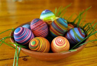 رنگ کردن تخم مرغ برای هفت سین