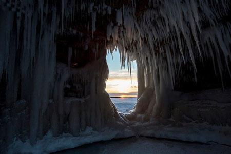 دریاچه Superior,عکس های غار یخی,غار یخی