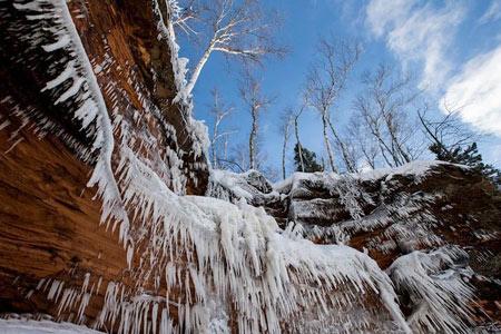 دریاچه Superior,عکس های غار یخی
