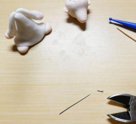 ساخت عروسک های خمیری,درست کردن فرشته های خمیری