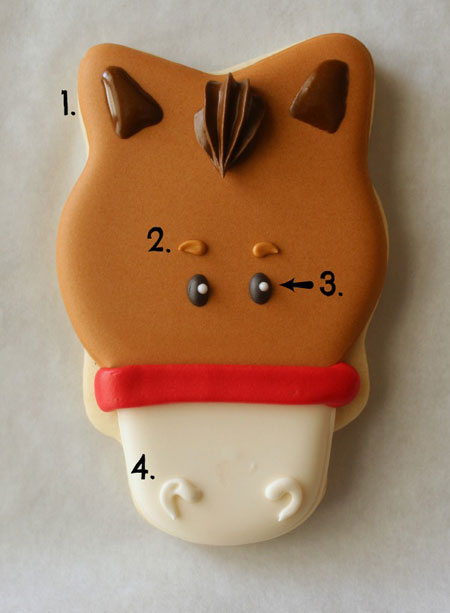 آموزش تزیین شیرینی نوروزی, تزیین شیرینی به شکل اسب