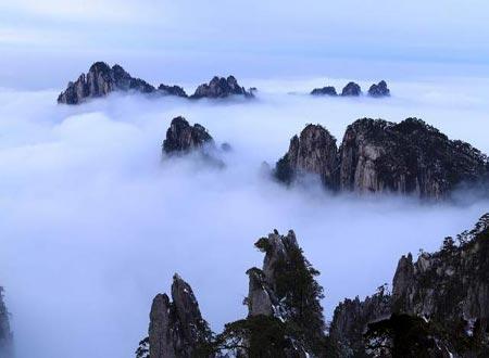 کوههای هونگ شان,کوههای هونگ شان چین,گردشگری