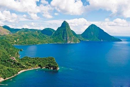 ساحل زیبا و دیدنی سنت لوسیا,ساحل سنت لوسیا, زیباترین جزایر جهان,اقیانوس اطلس