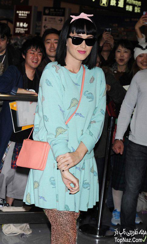 عکس های کتی پری خواننده جنجالی در توکیو