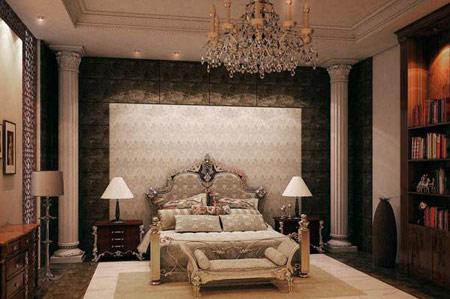اتاق خواب های سلطنتی, چیدمان اتاق خواب های کلاسیک