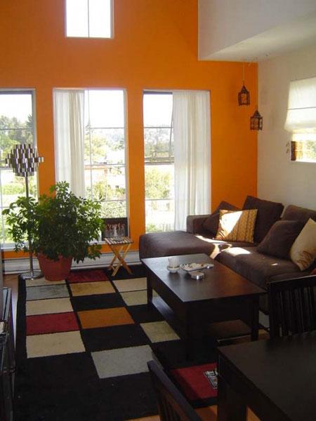 دکوراسیون نارنجی,چیدمان نارنجی خانه