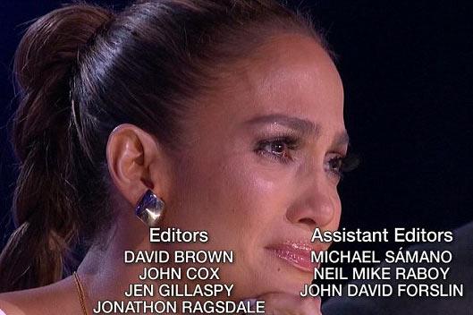 گریه جنیفر لوپز در برنامه آمریکن آیدل