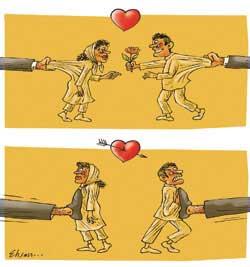 کاریکاتور ازدواج و طلاق در ایران