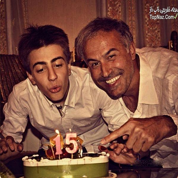 عکس دانیال حکیمی و پسرش دانا