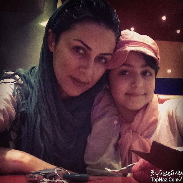 عکس شیوا ابراهیمی و دخترش