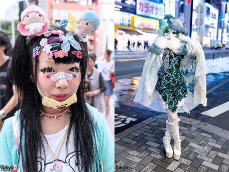 تیپ عجیب و جدید دختران در ژاپن