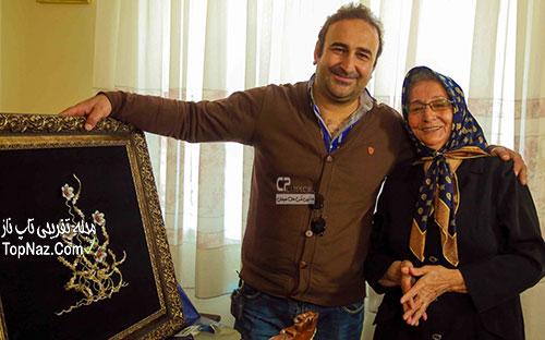 مهران احمدی و مادرش