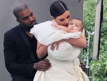 تصاویر کیم کارداشیان با همسر و فرزند,تصاویر کیم کارداشیان روی مجله Vogue