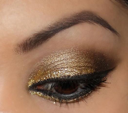 مدل سایه چشم طلایی
