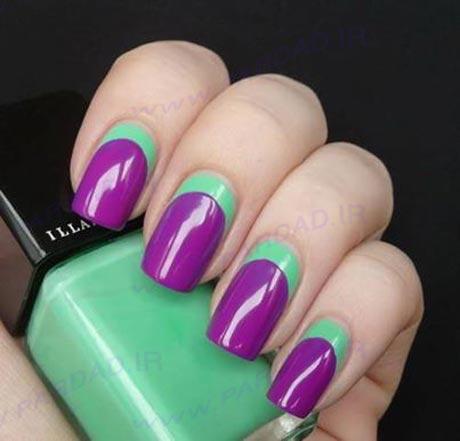 طراحی ناخن به رنگ بنفش