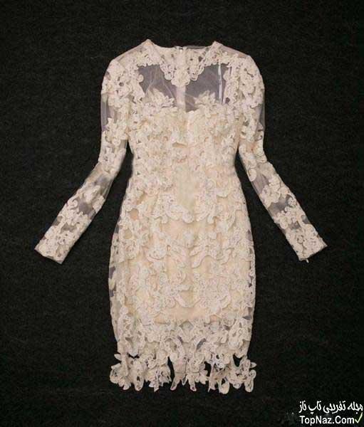 مدل لباس مجلسی شیک دانتل