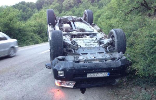 واژگون شدن خودروی گروه آریان در شمال
