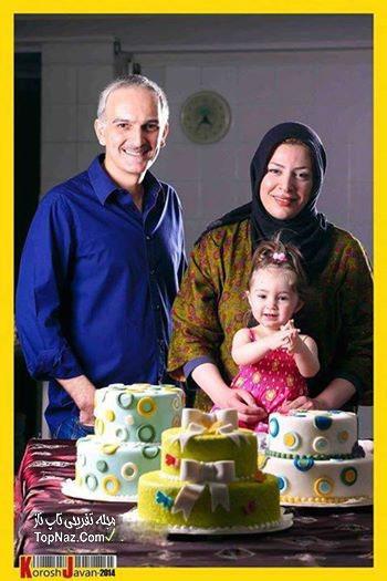 عکس بیژن بنفشه خواه و خانواده اش